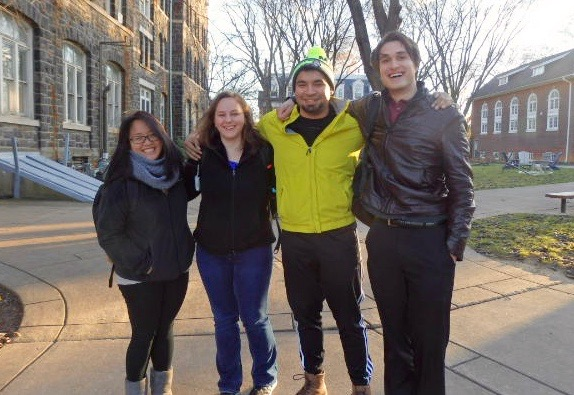Left to right: Vina Aguirre, Katelyn Snyder, Marlon Moraga, Max Kraft
