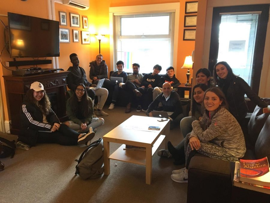 International Club gathers in the Diversity House on April 5 to organize end of the year festivities. From left Lina Fu, Prishaani Govender, Jackson Mlimuka, Andjela Todorovic, Nischal Piya, Joshua Pradhan, Mars, Minghao Tan, Boris Kirov, Stephanie Grande-Brito, Astrid Buquen, Sara Rojas, and Aziza Hamidi.