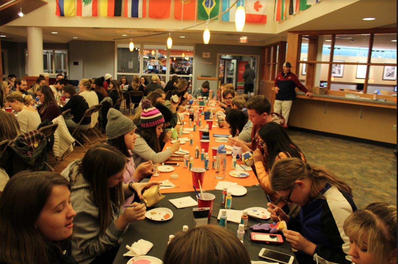 Moravian students having fun at a MAC organized event.