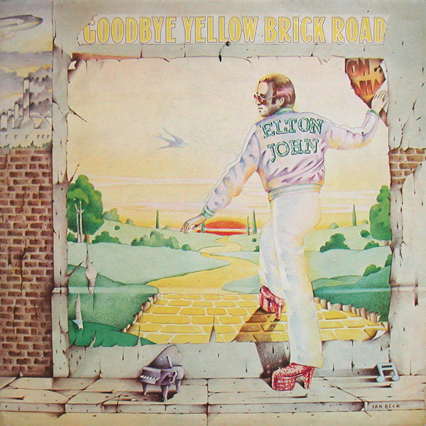 Photograph of the album cover of Elton John's Goodbye Yellow Brick Road