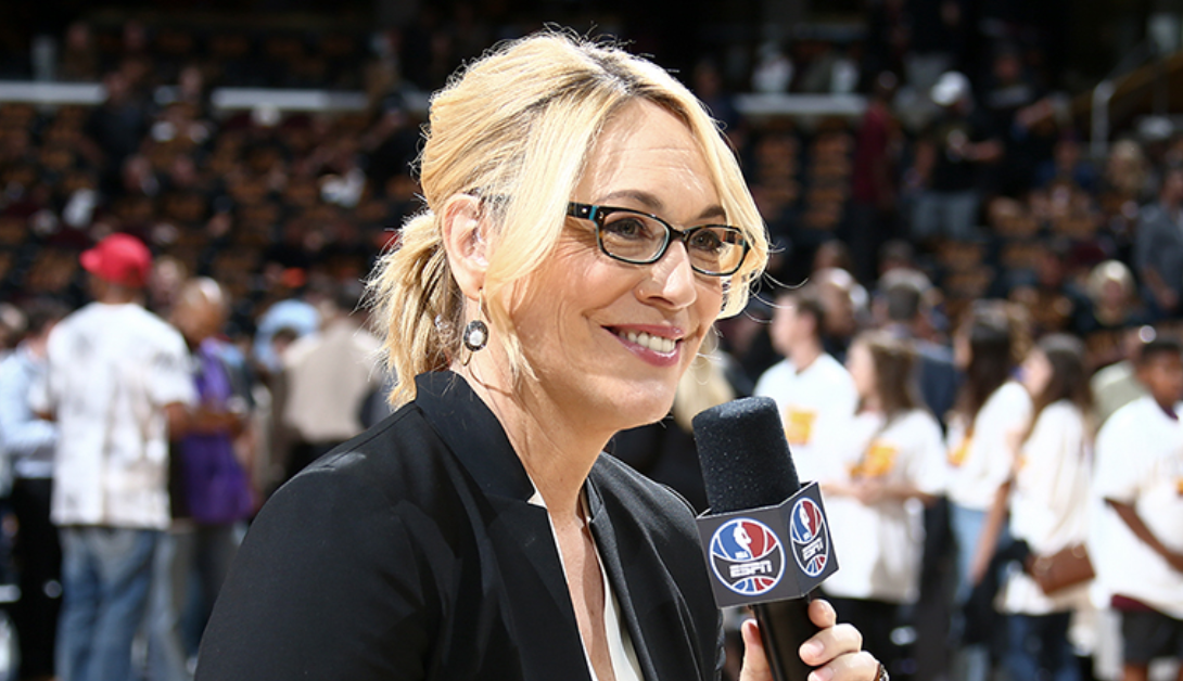 Doris Burke commenting for ESPN.