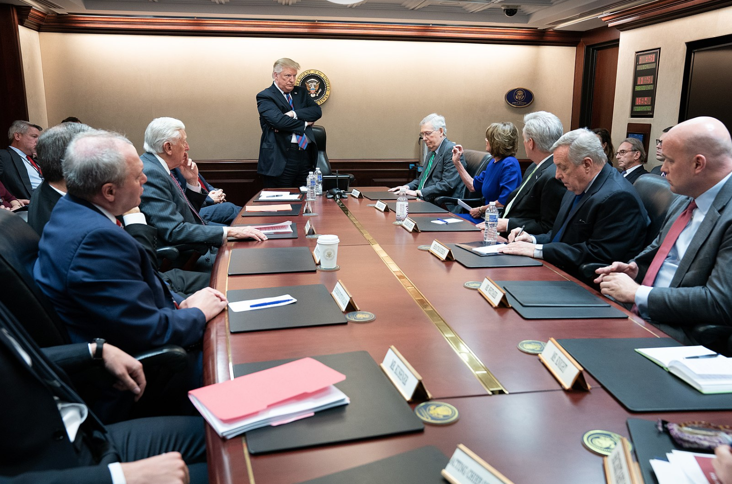 President Trump meeting with congressional leaders in January. Photo via Wikimedia Commons under Creative Commons License.