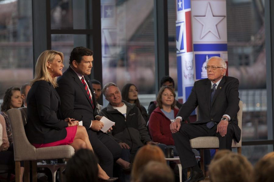 Senator+Bernie+Sanders+sat+down+to+answer+questions+from+the+audience+and+with+Fox+News+co-hosts+Bret+Baier+and+Martha+MacCallum.+