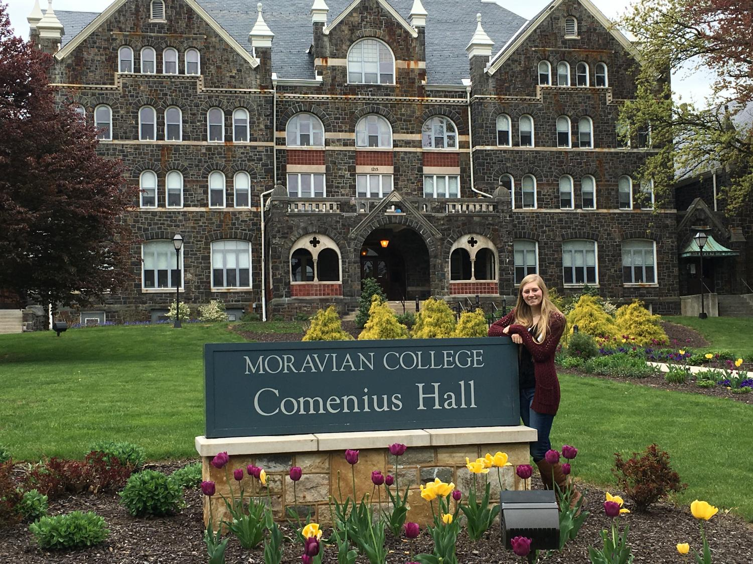 Editor-In-Chief Elizabeth Horn visiting Moravian College for the first time in 2016.