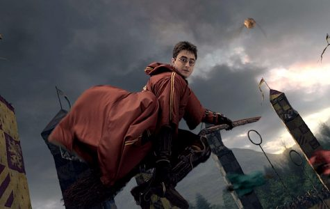 an image of harry potter playing quidditch
