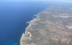 a plane view of coastal Spain