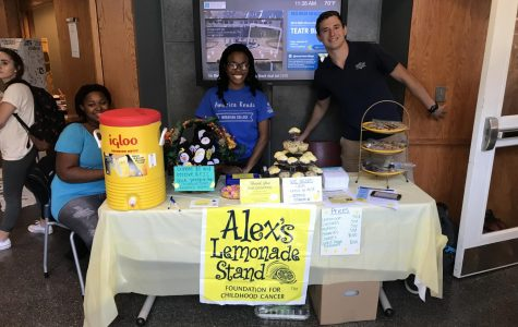 Gamma Sigma Sigma members participating in a fundraiser for Alex's Lemonade Stand