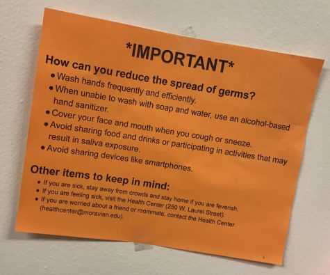 a flyer telling students to stay hygienic during the mumps outbreak