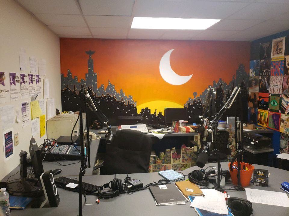 Studio of MoCo Radio