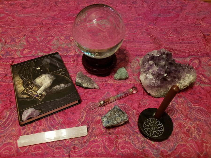 a photo of wiccan artifacts