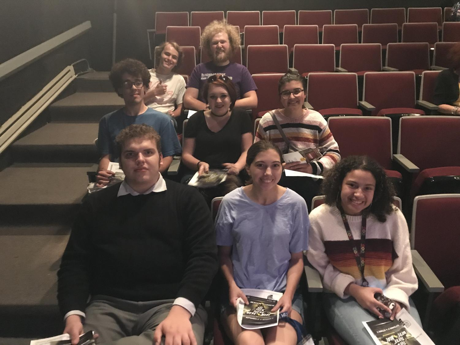 A few members from the Zinzendorf Literary Society at a showing of the play