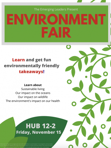 A flyer for the Emerging Leaders-sponsored event, the Environment Fair