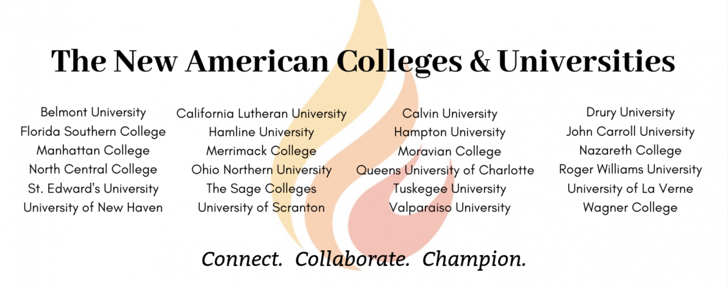 A screenshot of the official list of New American Colleges and Universities; Photo Courtesy of: newamericancolleges.org