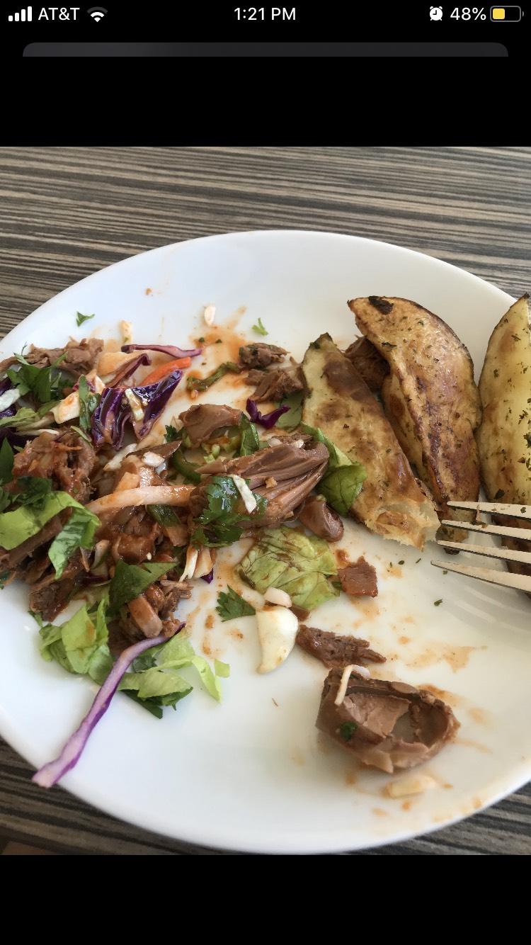 A photo of Moravian's vegetarian nacho alternative, jackfruit nachos.