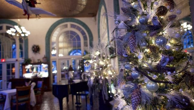 Historic Hotel Bethlehem as they get festive with lobby decorations; Photo Courtesy of: hotelbethlehem.com