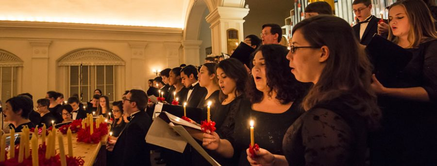 A photo during the Vespers service; Photo Courtesy of: moravian.edu