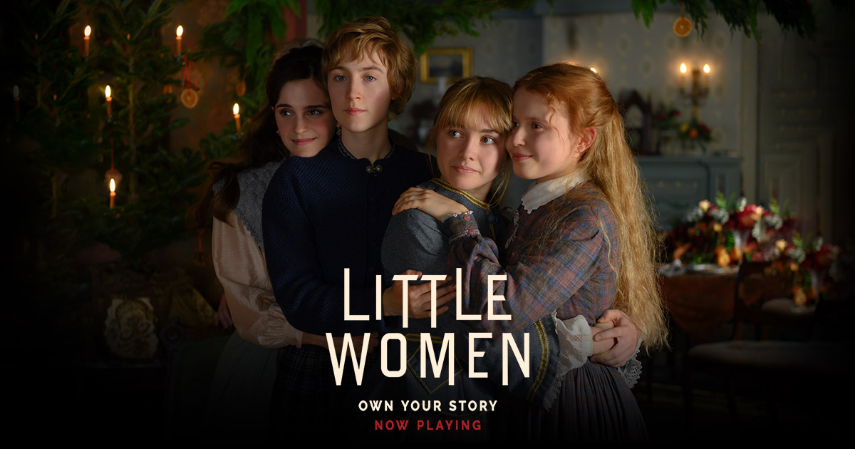 Promotional material for the movie featuring the four main characters, Meg, Jo, Beth, and Amy; Photo Courtesy of: littlewomen.com