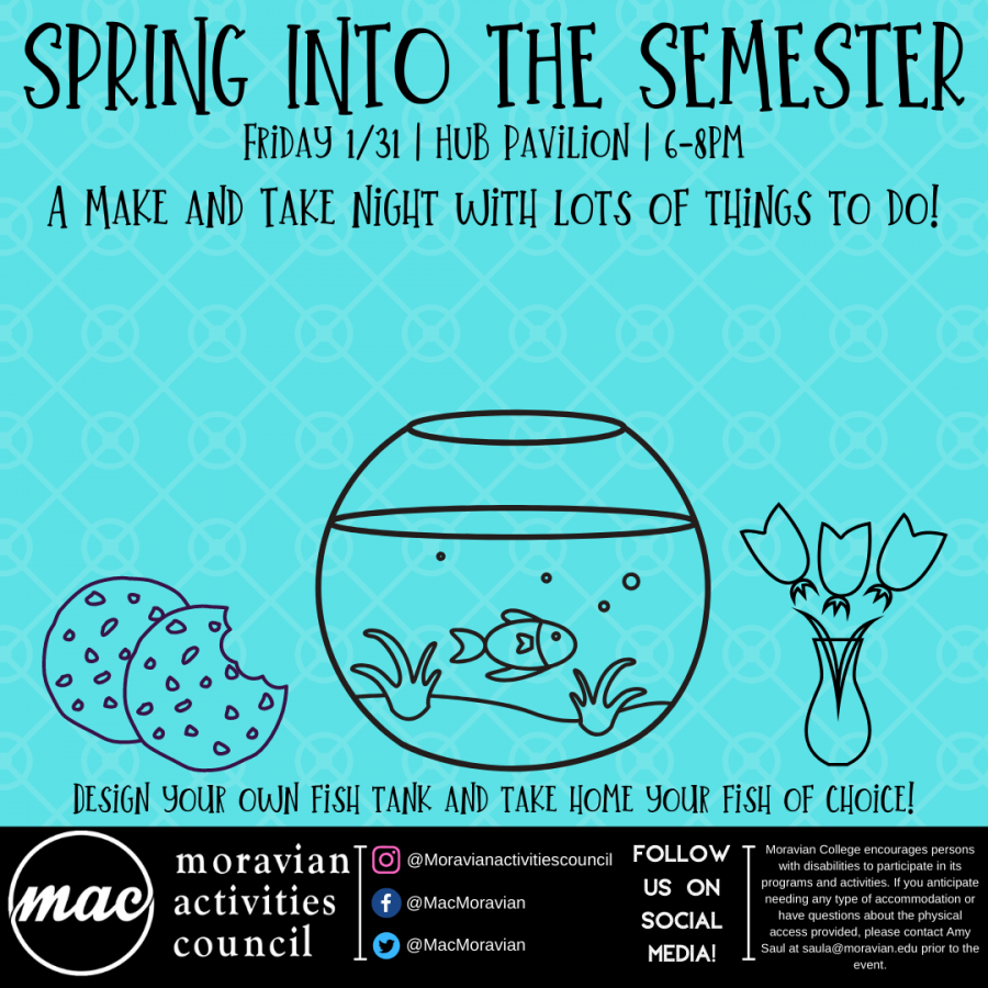 The flyer distributed by MAC encouraging students to take home their own fish for free