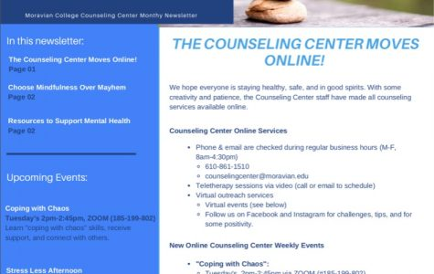 The Counseling Center's April/May Newsletter, detailing quarantine mental health struggles