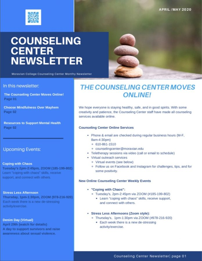 The+Counseling+Center%27s+April%2FMay+Newsletter%2C+detailing+quarantine+mental+health+struggles