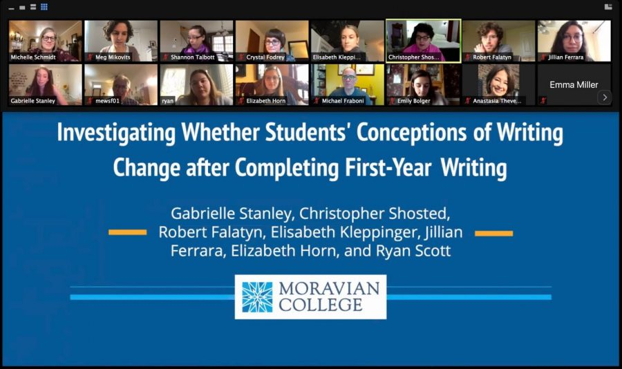 A screenshot of one of the online oral presentations presented during Scholar's Day.