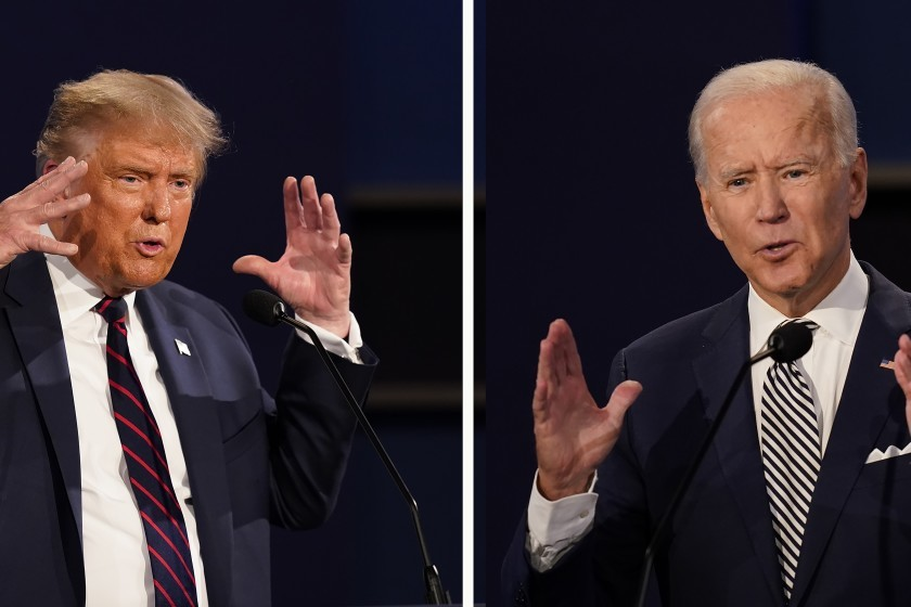 POTUS+Donald+Trump+and+former+VP+Joe+Biden+go+head-to-head+in+this+gruelling+and+insult-laden+debate+on+Tuesday+night%3B+Photo+Courtesy+of%3A+www.latimes.com