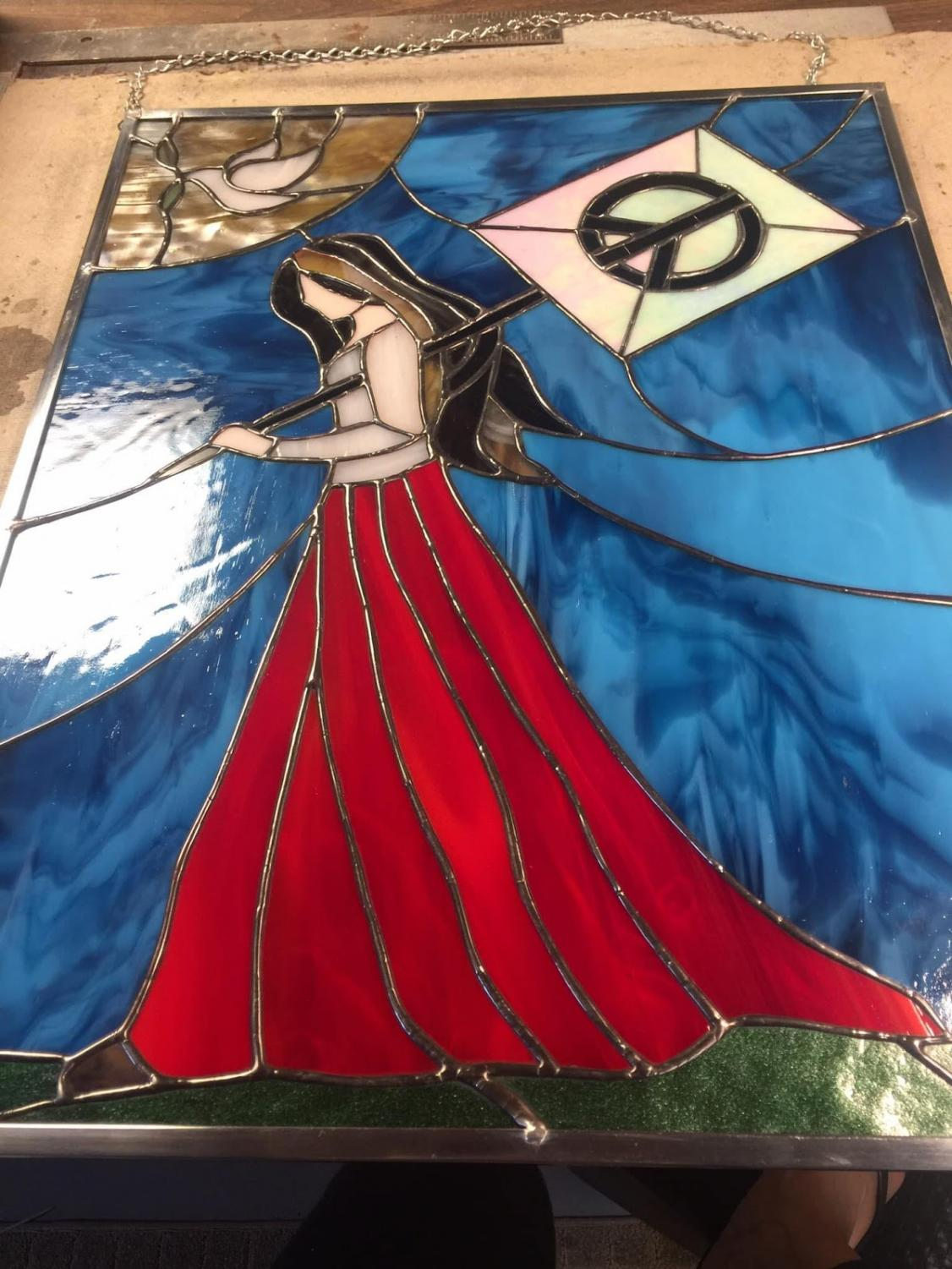 Some of Dr. Zaremba's stained glass work. Photos courtesy of Stacey Zaremba.