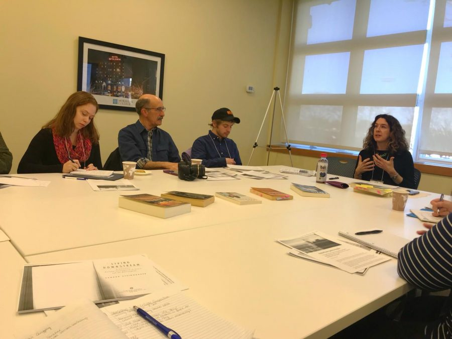 Mary Heather Noble leads creative writing workshop at Moravian College Writers Conference on March 17.