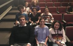 A few members from the Zinzendorf Literary Society at a showing of the play And Then There Were None