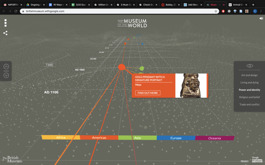 A screenshot of the British Museum's virtual museum tour that you can take from the comfort of your own couch.