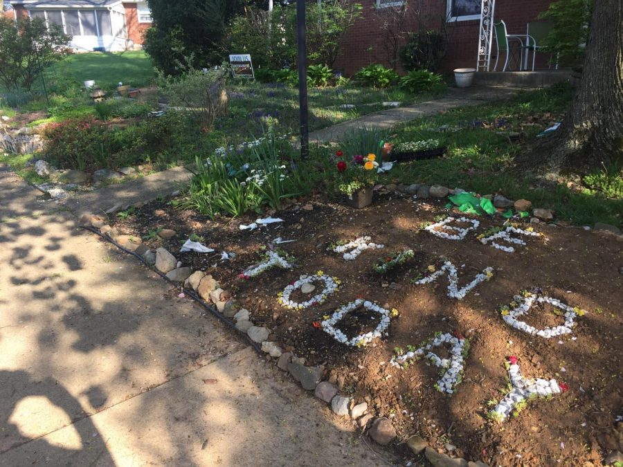 Some lovely garden art on campus; Photo by: Theresa Dougal