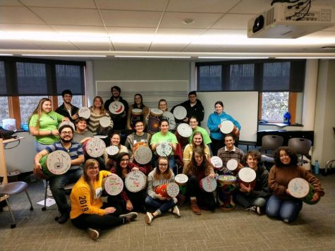 Members of PCMA with drums.