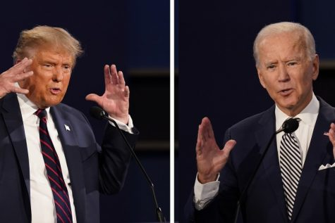 POTUS Donald Trump and former VP Joe Biden go head-to-head in this gruelling and insult-laden debate on Tuesday night; Photo Courtesy of: www.latimes.com